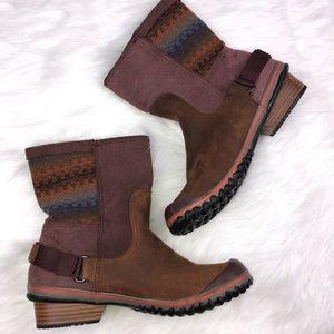 Sorel Shoes - Sorel Slim Shortie Boots Sz 10 Brown Mauve Pink